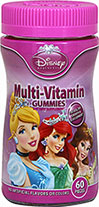 Disney Princess Multi Gummies <p>For healthy growth and development**</p><p>With pediatrician recommended¹ level of Vitamin D 400 IU per 2 gummies</p><p>Children's Multiple Vitamin & Mineral Supplement </p><p>Tastes great, no artificial flavors or colors!</p><p>¹the American Academy of Pediatrics recommends children and asolscents receive at least 400 IU of Vitamin D per day from food or supplements.  Wagner, C et al. Pediat