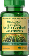 Hoodia Gordonii 1400 Complex W/Green Tea  60 Softgels 1400 16.99