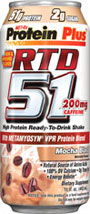 Protein Plus RTD 51 Mocha Blast RTD 51: – Combines fast and slow-digesting proteins for extended muscle support* – Loaded with BCAAs and other essential aminos from high-quality protein – Excellent source of over 20 vitamins and minerals essential for protein metabolism and other metabolic functions* – Helps replenish energy* – Low in fat – No aspartame  12 pack- 15oz Liquid  $43.49