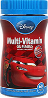 Disney Cars Multi Gummies <p>For healthy growth and development**</p><p>With pediatrician recommended¹ level of Vitamin D 400 IU per 2 gummies</p><p>Children's Multiple Vitamin & Mineral Supplement </p><p>Tastes great, no artificial flavors or colors!</p><p>¹the American Academy of Pediatrics recommends children and asolscents receive at least 400 IU of Vitamin D per day from food or supplements.  Wagner, C et al. Pediatrics