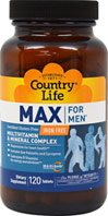 Max For Men Multi - Iron Free