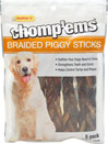 Chomp'ems Braided Piggy Sticks for Dogs