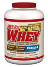 Instantized 100% Natural Whey Vanilla MET-Rx Instantized 100%* Natural Whey Powder utilizes state of the art manufacturing techniques to deliver a cutting-edge protein blend that is both wholesome and scientifically advanced. With absolutely no artificial sweeteners, flavors or colors – MET-Rx Instantized 100%* Natural Whey Powder should be your first choice for high quality protein.  5 lbs Powder  $63.99
