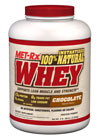 Instantized 100% Natural Whey Chocolate MET-Rx Instantized 100%* Natural Whey Powder utilizes state of the art manufacturing techniques to deliver a cutting-edge protein blend that is both wholesome and scientifically advanced. With absolutely no artificial sweeteners, flavors or colors – MET-Rx Instantized 100%* Natural Whey Powder should be your first choice for high quality protein.  5 lbs Powder  $63.99
