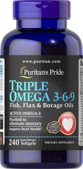 Triple Omega 3-6-9 Fish, Flax & Borage Oils