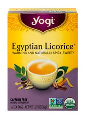 Egyptian Licorice® Tea <p><b>From the Manufacturer's Label:</b></p> <p><b>Delight in the Royal Taste of Egyptian Licorice®</b></p> <p>The great kings of Egypt treasured licorice for its natural sweetness and rich flavor.   Our Egyptian Licorice® tea brings you this royal herb in an intriguing blend of complementary spices. This tea is sure to delight with its delicious and satisfying taste, fusing Organic Licorice with swee