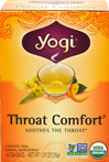 Organic Throat Comfort® Tea  <p><b>From the Manufacturer's Label:</b></p> <p><b>When You Need a Little Comfort </b></p> <p>In this all organic herbal formula, we combine Slippery Elm Bark with Mullein, favorites of Western Herbalism.  We include Wild Cherry Bark as well as Licorice Root for sweet flavor.**  Because Throat Comfort is naturally tasty and gentle, both children and adults can enjoy it! </p>  <p><b>Get t