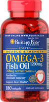 Double Strength Coated Omega-3 Fish Oil 1200 mg