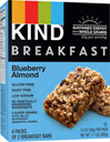 Kind Breakfast Blueberry Almond Bars