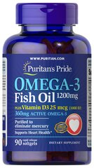 Omega 3 Fish Oil 1200 mg + Vitamin D3 1000 IU