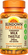 Sundown Naturals Standardized Milk Thistle 240 mg