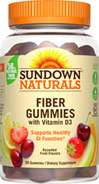 Sundown Naturals Fiber Gummies with Vitamin D3