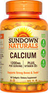 Sundown Naturals Calcium 1200 plus D