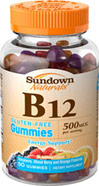 Sundown Naturals B12 500 mcg Gummies