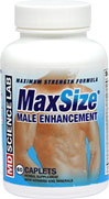 MaxSize® Pills <P><B>From the Manufacturer's label</B></P><P>MaxSize® Male Enhancement is distributed by MDScience Lab LLC</P>     60 Caplets  $24.99