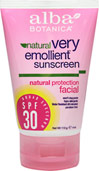 Natural Very Emollient Sunscreen Facial SPF 30