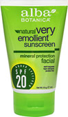 Natural Very Emollient Sunscreen Facial SPF 20