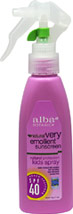 Natural Very Emollient Sunscreen Kids Spray SPF 40