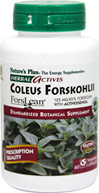 Coleus Forskohlii <p><strong>From the Manufacturer's Label:</strong></p><p>Standardized Botanical Supplement</p><p>Each Herbal Actives Coleus Forskohlii capsule, providing the greatest concentration of active botanical principles, maximizes the synergistic benefits of the who root, which naturally contains the active phytonutrient forskolin.</p><p>Manufactured by Nature's Plus</p> 60 Vegi Caps  $21.35