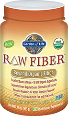 Raw Fiber <p><b>From the Manufacturer's Label:</b></p><p>Excellent source of fiber</p><p>15 RAW organic superfoods</p><p>Supports Bowel Regularity and elimination of toxins**</p><p>Powerful probiotics for added digestive support**</p><p>Omega-3 fatty acids from flax and chia seeds</p><p>Raw, Vegan, Gluten Free, Dairy Free, Psyllium Free</p>  1 lb Powder  $19.99