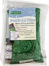 "Aromatherapy Breathe E-Z Pillow <strong></strong><p><strong>From the manufacturer:</strong></p><p>This minty, medicine pillow will open your sinuses and refresh your mind. Simply breathe in the therapeutic peppermint aroma to help reduce fatigue or nausea. Includes 1/4oz. peppermint essential oil for re-scenting and enhancing the natural aromatherapy benefits. </p><p>Measures 3"" x 5""</p><p>Filled with pure peppermint and"