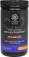 Vega Sport Recovery Accelerator Tropical Vega Sport is the first all-natural, plant-based protein specifically developed to help athletes perform at their best - before, during and after training and competition.  Formulated by Brendan Brazier, professional Ironman triathlete and best-selling author on performance nutrition, Vega Sport products are 100% plant-based, dairy, gluten and soy free and contain  no artificial flavors, colors or sweeteners.  19 oz Powder  $31.99