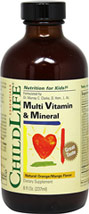 Multivitamins & Mineral Liquid <p><b>From the Manufacturer's Label:</b></p><p>Natural Orange/Mango Flavored Liquid</p><p><p>ChildLife multivitamins & Mineral fromula provides all of the essential vitamins with minerals and trace elements in a good tasting, easy to use, liquid formula.</p><p>Shake well before use</p><p>Keep refrigerated after opening</p><Give directly or mix with your child's faborite