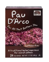 Pau D'Arco Tea <p><b>From the Manufacturer's Label</b></p> <p>Caffeine-free</p> <p> While we're not sure how one goes about discovering that the bark of a tree not only tastes good but also promotes well-being, we're happy someone did. The bark of this tree, and its unique benefits, are the basis for our Pau D'Arco herbal wellness tea, a tasty treasure any explorer of exotic teas would be happy to bring home.</p> <p>Manufa
