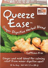 Queeze Ease™ Ginger Digestive Herbal Tea <p><b>From the Manufacturer's Label</b></p> <p>Caffeine-free</p> <p>Maybe that giant slice of pizza was just too irresistible, or your friends talked you into going to that spicy thai noodle spot. Whatever the case, your stomach's fed up. Queeze Ease™ Tea was created to help calm that upset stomach with an array of specialized, soothing herbs trained in digestive anger management.</p> <p