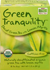Organic Green Tranquility™ Decaf Green Tea with Lemon Myrtle <p><b>From the Manufacturer's Label</b></p> <p>Caffeine-free</p> <p>Just because it's decaffeinated doesn't mean it has to taste...well, decaffeinated. It's all about the processing. Done properly, a good Green Tea retains the botanical's most delightful flavors. Green Tranquility™ is a tasty, low octane blend with a hint of lemon myrtle to liven things up without the worry