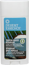 Tropical Breeze Deodorant <p><b>From the Manufacturer's Label:</b></p>  <p>- Long-Lasting Protection</p> <p>- Propylene Glycol* & Aluminum Free</p>  <p>Tea Tree Oil and Witch Hazel help neutralize odor. Natural botanical oils and extracts help provide effective, long-lasting deodorant protection while leaving a fresh tropical scent. </p>  <p>*1,2 Propylene Gycol Free</p>  <p>Manufactured by Desert Essence&r