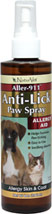 Aller-911 Anti-Lick Paw Spray <B>From the Manufacturer:</B>   <P>Aller-911 Anti-Lick Paw Spray helps to soothe itchy paws and contains ingredients to discourage further licking.</P>   8 oz Liquid  $11.69
