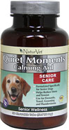 Senior Care Quiet Moments Calming Aid <B>From the Manufacturer's Label:</B> <P>Formulated specifically for senior dogs.  Helps reduce stress and tension.  Use for fireworks, travel, grooming and thunderstorms.</P>  30 Chewables  $22.99