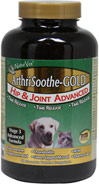 ArthriSoothe-GOLD Hip & Joint Advanced <B>From the Manufacturer:</B> <P>Veterinarian formulated and recommended to support healthy hip and joint function. Helps to maintain joint flexibility and alleviate aches and discomfort associated with exercise.</P>  40 Chewables  $35.99