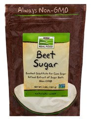 Beet Sugar <p><b>From the Manufacturer's Label:</b></p><p>NOW® Real Food™ Beet Sugar is the refined extract of sugar beets and is 99.9% sucrose, making it an ideal substitute for cane sugar in most recipes. Persons with intolerance to refined cane sugar will find beet sugar to be a worthy replacement.</p>  <p>NOW® Real Food™ Beet Sugar is 100% pure, natural Beet Sugar with no added ingredients.</p> <p>Manufactured by NOW® F