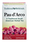 Pau d'Arco Tea <p><b>From the Manufacturer's Label:</b></p> <p>Caffeine Free</p> <p>Known also as 'ipe roxo' in Brazil and as 'lapacho' in Argentina and Paraguay, pau d'arco is the inner bark of a tall tree that grows throughout South America.  It has been used by traditional healers in Brazil, Argentina, Peru and other South American regions for centuries on its own or as a component of herbal mixtures.</p> <p>&lt