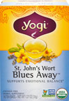 St. John's Wort Blues Away™ Tea <p><b>From the Manufacturer's Label:</b></p> <p>Say goodbye to the blues with a flavorful cup of this warming and relaxing formula.  We use only the finest St. John's Wort Leaf and Flower, which have been traditionally used to alleviate common anxiety and nervous unrest by helping to settle the emotional imbalances caused by everyday stress.  We than add soothing Fennel and lively, aromatic Organic Lavender to enhance the