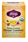 Organic Honey Lemon Throat Comfort® <p><b>From the Manufacturer's Label:</b></p> <p>Coats and Soothes the Throat**</p> <p>When everyday stress takes a toll on  your throat, brew a cup of all organic Honey Lemon Throat  Comfort.  This traditional herbal formula, flavored with soothing Honey and Lemon, includes Slippery Elm Bark, prized by Western herbalists for its usefulness in relieving minor throat irritation.  Wild Cherry Bark, used by native