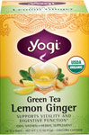 Organic Green Tea Lemon Ginger <p><b>From the Manufacturer's Label:</b></p> <p>Celebrate Well-Being with Green Tea Lemon Ginger</p> <p>Say hello to our Green Tea Lemon Ginger and meet a more vital,  youthful you!  The tangy, all organic tea not only provides a refreshing pick-me-up with its tantalizing flavor from Lemongrasss and Lemon Peel, but also aids digestion thanks to the naturally warming and invigorating qualities of Ginger.  Plus the antiox