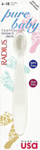 Pure Baby Ultra Soft Toothbrush <p><strong>From the Manufacturer:</strong></p><p>100% recyclable</p><p>Premium Radius Bristles</p><p>BPA and Dye Free</p><p>Tapered handle for total control</p><p>Radius Corner-less Head</p><p>Cushioned Brushing</p> 1 Each  $2.99