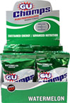 GU Chomps™ Energy Chews Watermelon GU Chomps™ are a chewable version of GU, applying advanced food science to deliver the same high-quality, long-lasting energy that endurance athletes require.  GU Chomps™ Performance Energy Chedws offer a change of pace from gels and an answer to that moment in your run, ride, ski, swim, hike.... when you just gotta have something to chomp on!  16 - 2.1 oz Packs  $27.99