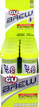 GU Brew™ Electrolyte Lemon Lime Optimal Hydration takes place in the days and weeks before an event or after a hard workout.  Use GU Brew Electrolyte Tablets wherever or whenver.  GU Brew Electrolyte Tablets are simple, light tasting and natural.  10 -12 tablet Tubes  $53.99