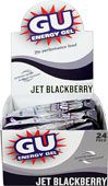 GU Energy™ Gel Jet BlackBerry GU Energy Gel is an advanced nutritional product designed to help athletes perform at their best.    24 - 1.1oz Packs  $26.95