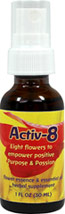 Activ-8 Spray <strong></strong><p><strong>From the manufacturer's label:</strong></p><p>Flower Essence Services offers Activ-8 Flower Essence Spray as an all-natural way to empower passion and positive purpose. Features organic cinnamon and cardamom essential oils plus infusions of Helianthus annuus, Delphinium nudicaule, Penstemon rostriflorus and more.</p> 1 oz Liquid  $11.99