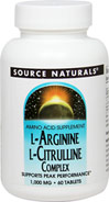 L-Arginine L-Citrulline Complex 750 mg / 250 mg <p><strong>From the Manufacturer's label</strong></p><p>We are proud to bring you L-Arginine L-Citrulline Complex 1000 mg from Source Naturals. Look to Puritan's Pride for high-quality national brands and great nutrition at the best possible prices</p> 60 Tablets 750 mg/250 mg $8.99