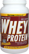 Whey Protein Caribbean Chocolate Jarrow Formulas Whey Protein is a 100% natural protein concentrate of whey, from cows not treated with growth hormone (rBST), and is ultrafiltered to be low in fat, lactose and carbohydrates.  2 lb Powder  $23.99