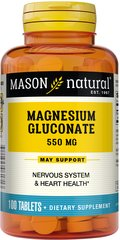 Magnesium Gluconate 550mg Each 550 mg tablet of magnesium gluconate provides 30 mg of elemental magnesium.  100 Tablets 550 mg $4.49