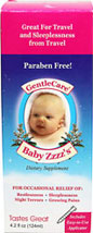 Gentle Care Baby Zzzz <p><strong>From the manufacturer:</strong></p><p></p><p>Gentle Care® Baby Zzzz's™ was formulated by a loving mom to gently calm and relax her baby without side effects, such as grogginess.  This safe and effective formula is for your child on those days or nights when sleep can not be achieved without the help of Gentle Care® Baby Zzzz's™</p> 4 oz Liquid