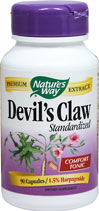 Devil's Claw Standardized 350 mg We are proud to bring you Devil's Claw 350 mg Standardized from Nature's Way. Look to Puritan's Pride for high quality national brands at the best possible prices. 90 Capsules 350 mg $9.99