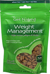 Weight Management for Cats <B>From the Manufacturer's Label:</B> <P>Get Naked Weight Management Treats for Cats are crunchy treats fortified with L-Carnitine and Phase 2.   These wholesome treats are also formulated with dietary fiber from flaxseeds.  Made with real chicken, each crunchy treat is under 2 calories and helps remove plaque & tartar through chewing, to help freshen breath.</P> 2.5 oz Bag  $7.19